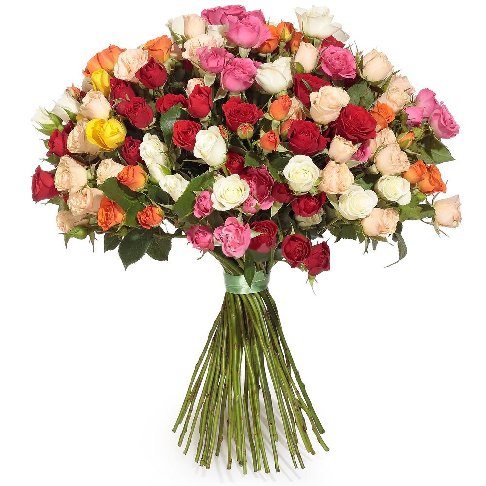 Букет Микс кустовых роз фото