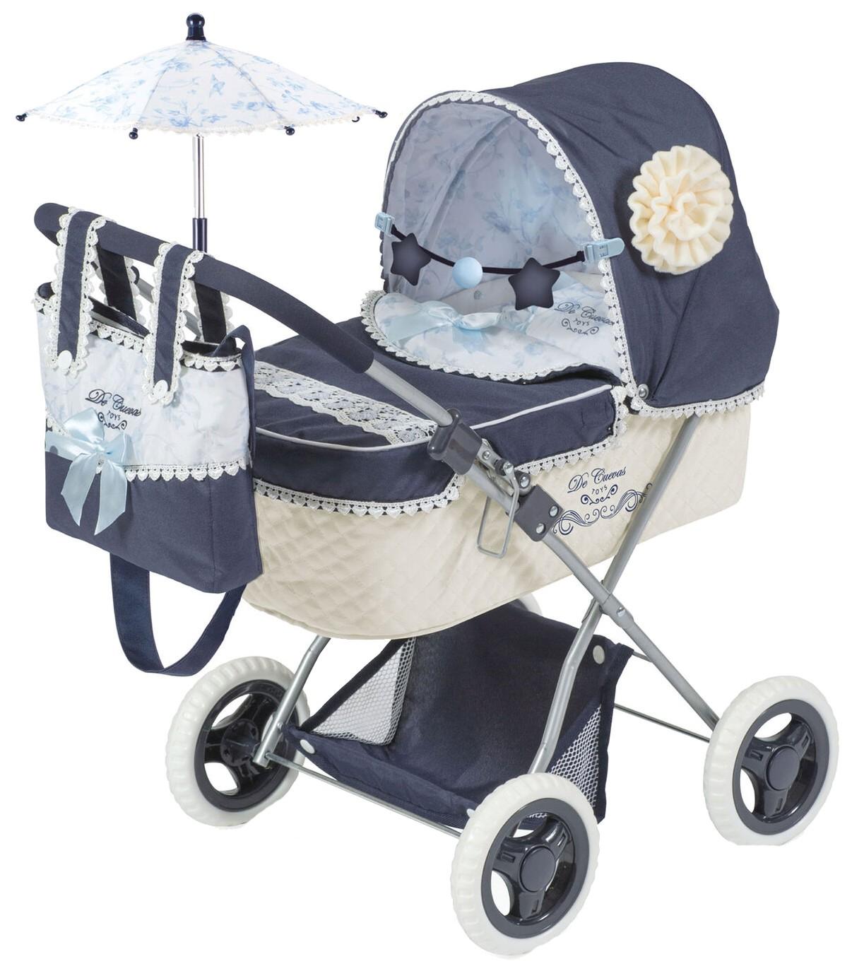 Купить Коляска для куклы, с сумкой и зонтиком Романтик , 60 см, DeCuevas,