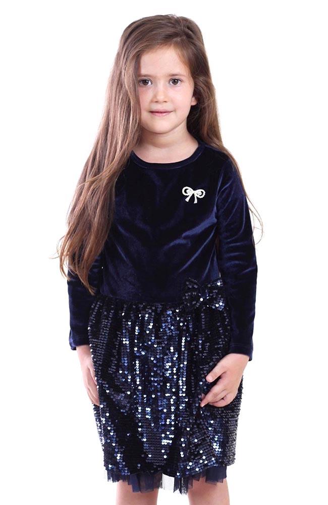 Платье Mago черный бархат с пайетками, размер