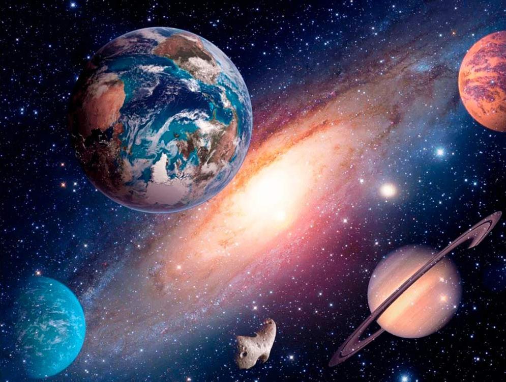 """Алмазная вышивка Алмазное Хобби """"Планеты в космосе"""", 40x60 см"""