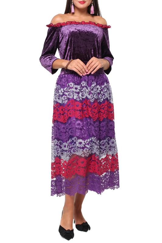 Платье женское LISA BOHO GRACE 180973 фиолетовое 48 EU