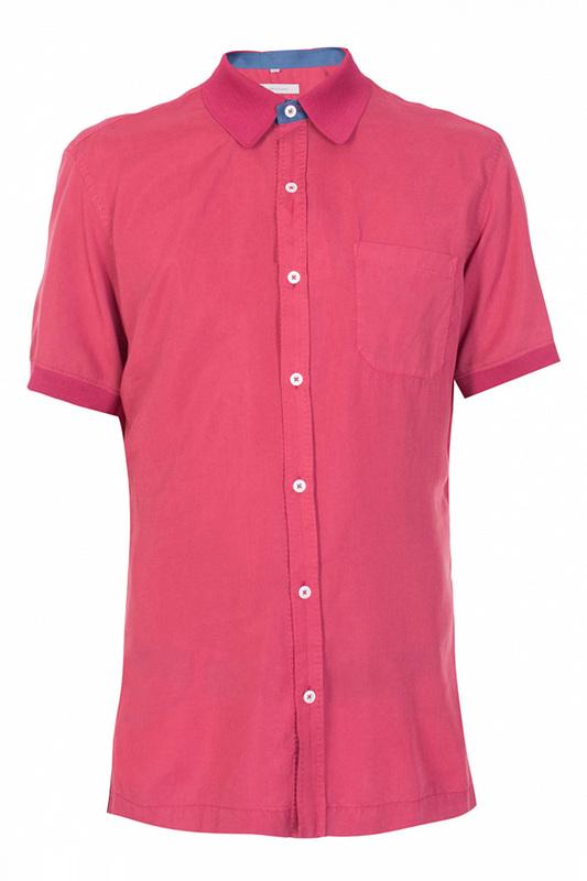 Рубашка мужская Cortigiani 73391 красная 50 IT