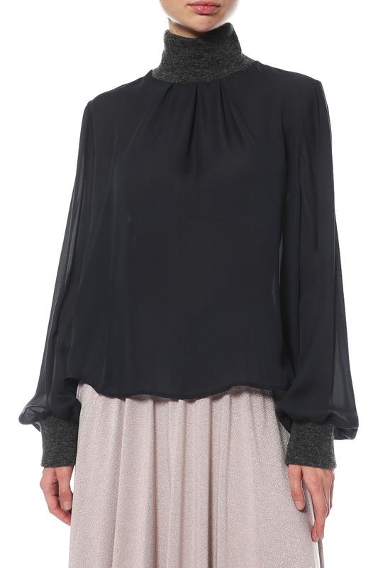 Блуза женская ELEVENTY 980SE0087/SET25001/15V синяя 46 IT фото
