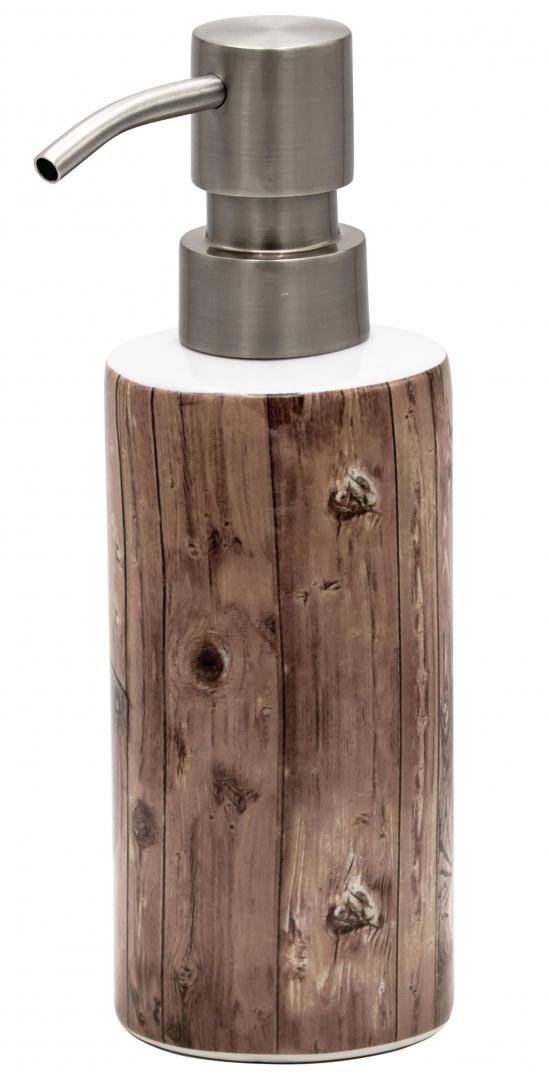 Дозатор для жидкого мыла Woody бежевый/коричневый