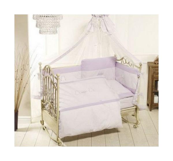 Купить Комплект Orsetti лонг, 6 пр, , Комплект детского постельного белья Feretti Orsetti лонг Фиолетовый
