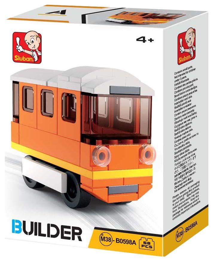 Купить Конструктор пластиковый Sluban Автобус M38-B0598A Builder 59 Деталей, Конструкторы пластмассовые