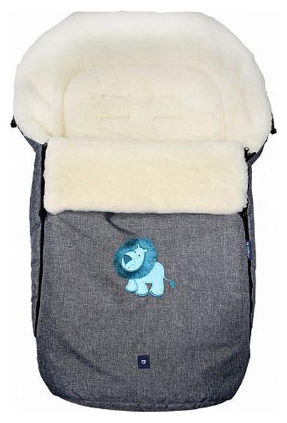 Купить Спальный мешок в коляску Womar №S77 Exlusive Lion Melange fabric Серый, Конверты в коляску