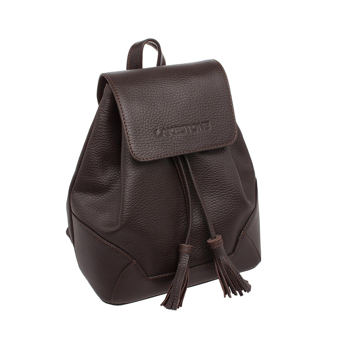 Рюкзак женский кожаный Lakestone 9123417/BR фото