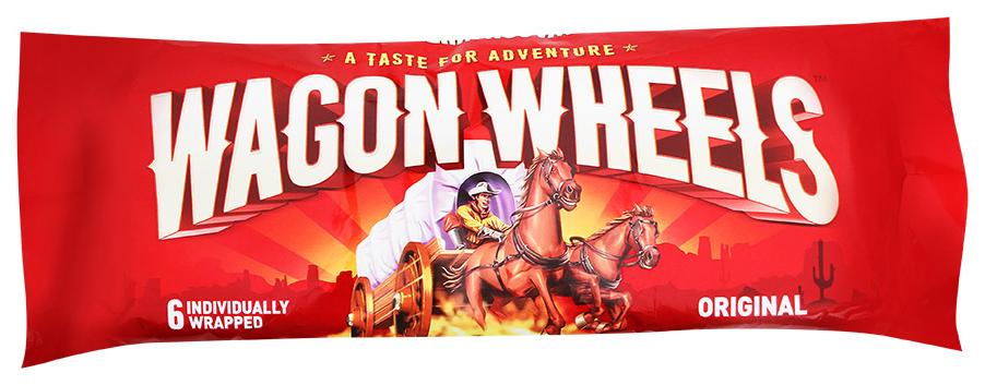 Печенье Wagon wheels original с суфле покрытое глазурью с ароматом шоколада 216 г