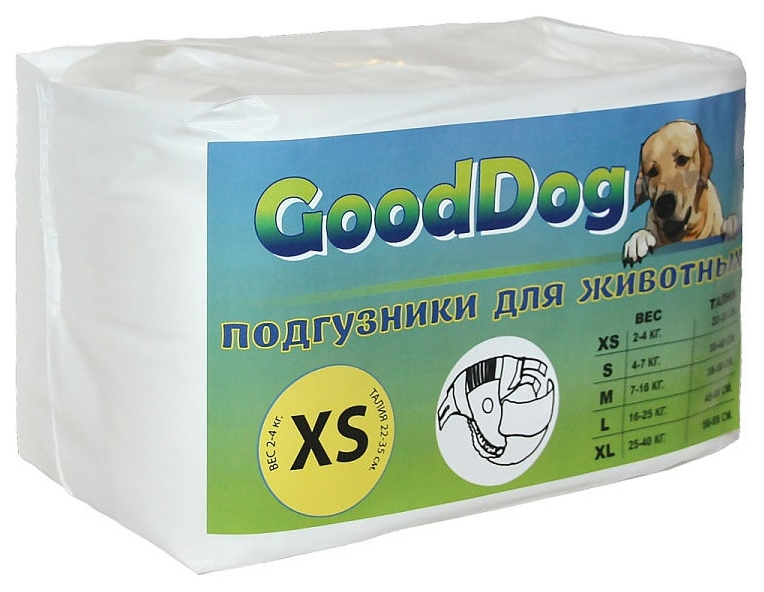 Подгузники для домашних животных GoodDog для собак