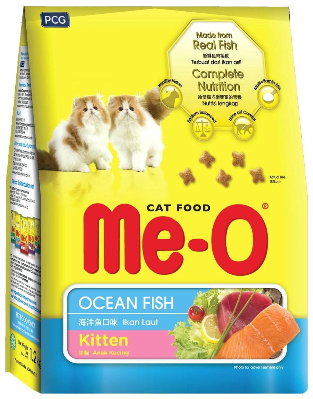 Сухой корм для котят Me-O Kitten, океаническая рыба, 1,2кг фото