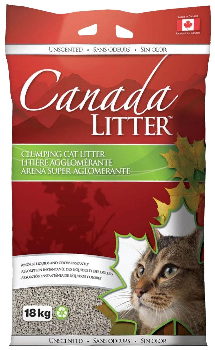 Комкующийся наполнитель туалета для кошек Canada Litter