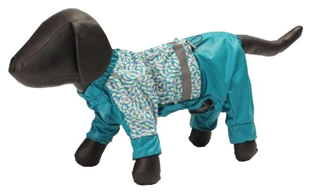Дождевик для собак Зоо Фортуна размер S мужской, синий, длина спины 23 см