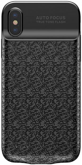 Чехол Baseus Plaid Backpack Power Bank 3500 mAh ACAPIPHX-BJ01 для Apple iPhone X (Black)