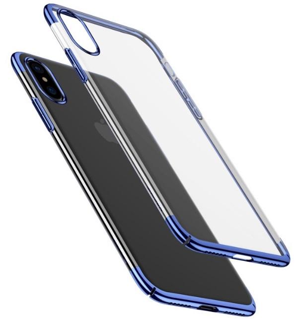 Чехол-накладка Baseus Glitter Case (WIAPIPHX-DW03) для Apple iPhone X (Blue)