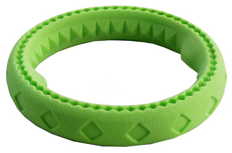 Жевательная игрушка для собак Triol Aroma Кольцо из резины, зеленое, 11 см