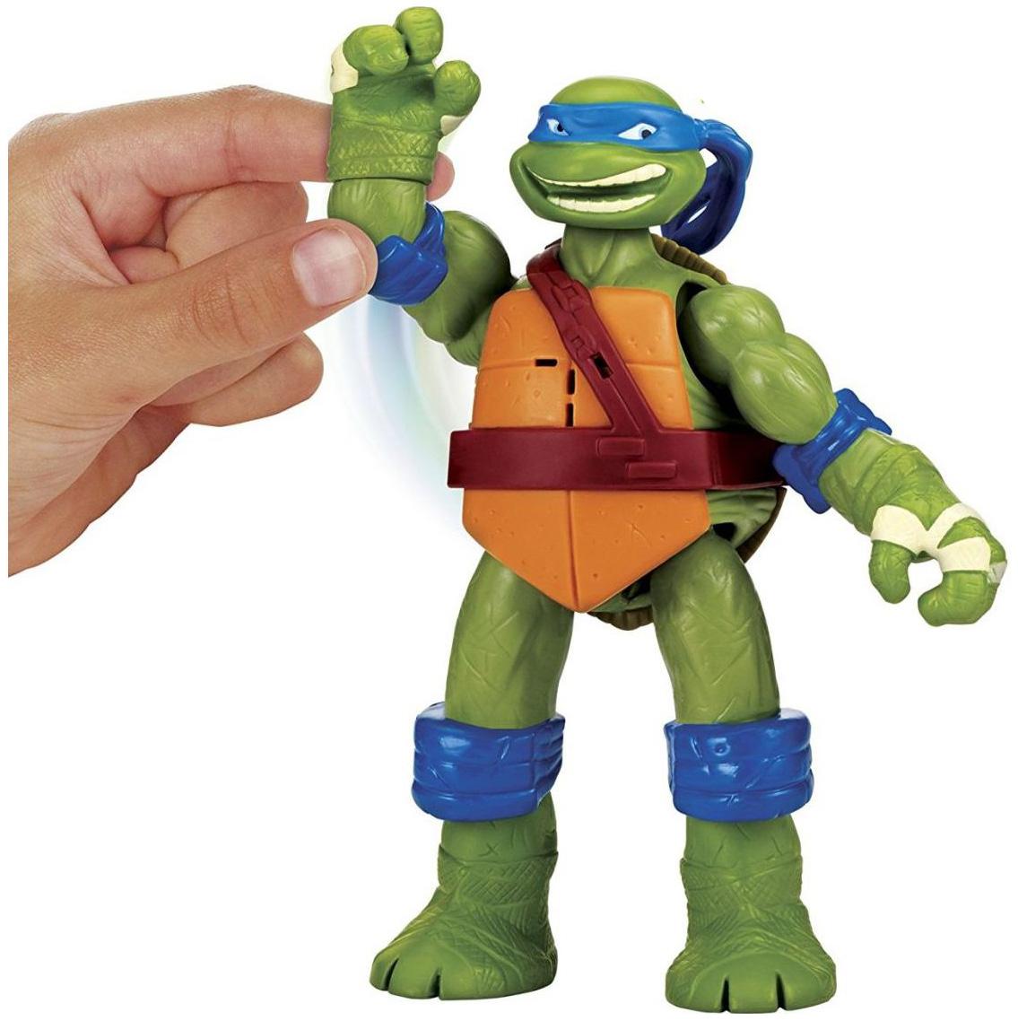 Купить Фигурка Playmates Toys черепашки-ниндзя, 15 см, Лео, клич ниндзя,