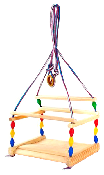 Качели детские Деревянные игрушки - Владимир подвесные Волна деревянные фото