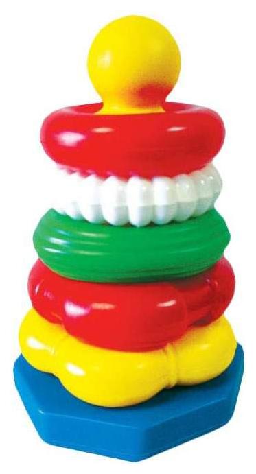 Купить Развивающая игрушка Счастливое детство Пирамидка Ассорти 29 см, Пирамидки для детей