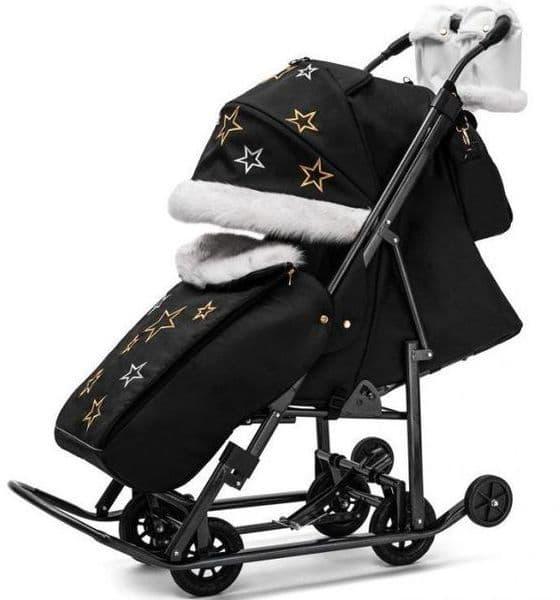 Купить Pikate Limited Edition 1718, Санки-коляска Pikate Limited Edition черный, Санки складные