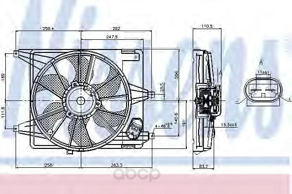 Вентилятор охлаждения двигателя Nissens 85708
