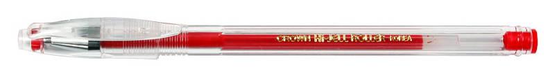 Учка гел, HJR-500 красная 0,5мм Crown (12/144/1152)