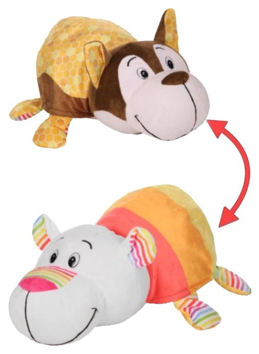Купить Игрушка-вывернушка 1 TOY Ням-Ням Хаски-Полярный мишка Медовая глазурь-Мороженое 40 см, Мягкие игрушки животные