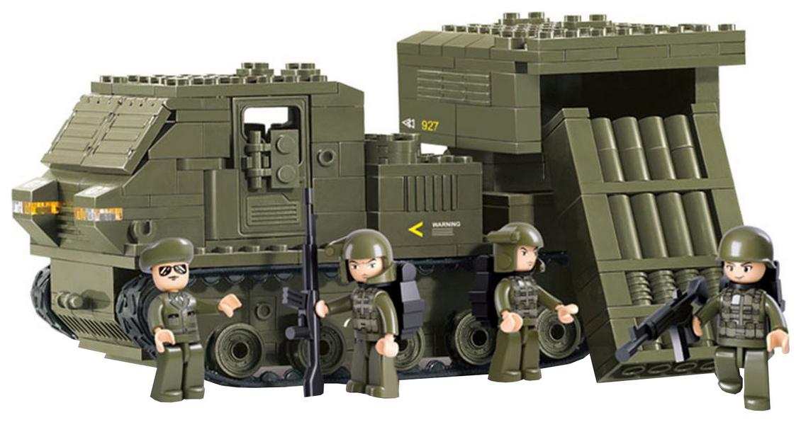 Купить Конструктор пластиковый SLUBAN Армия 314 элементов, Конструкторы пластмассовые