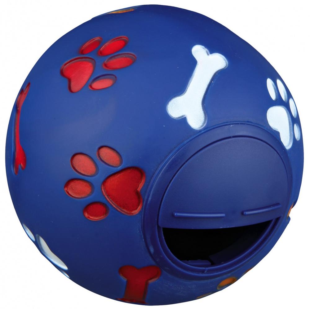 Игрушка для лакомств для собак TRIXIE Мяч из винила и пластика, в ассортименте, 7 см