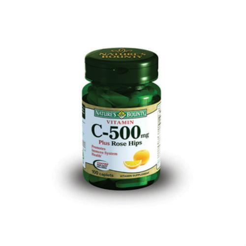 Добавка Natures Bounty Витамин С 500 мг и шиповник таблетки 100 шт.