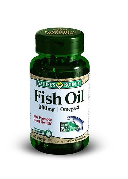 Купить Рыбий жир Омега-3 500 мг, Нэйчес Баунти Рыбий жир Омега-3 капсулы 500 мг 60 шт., Nature's Bounty