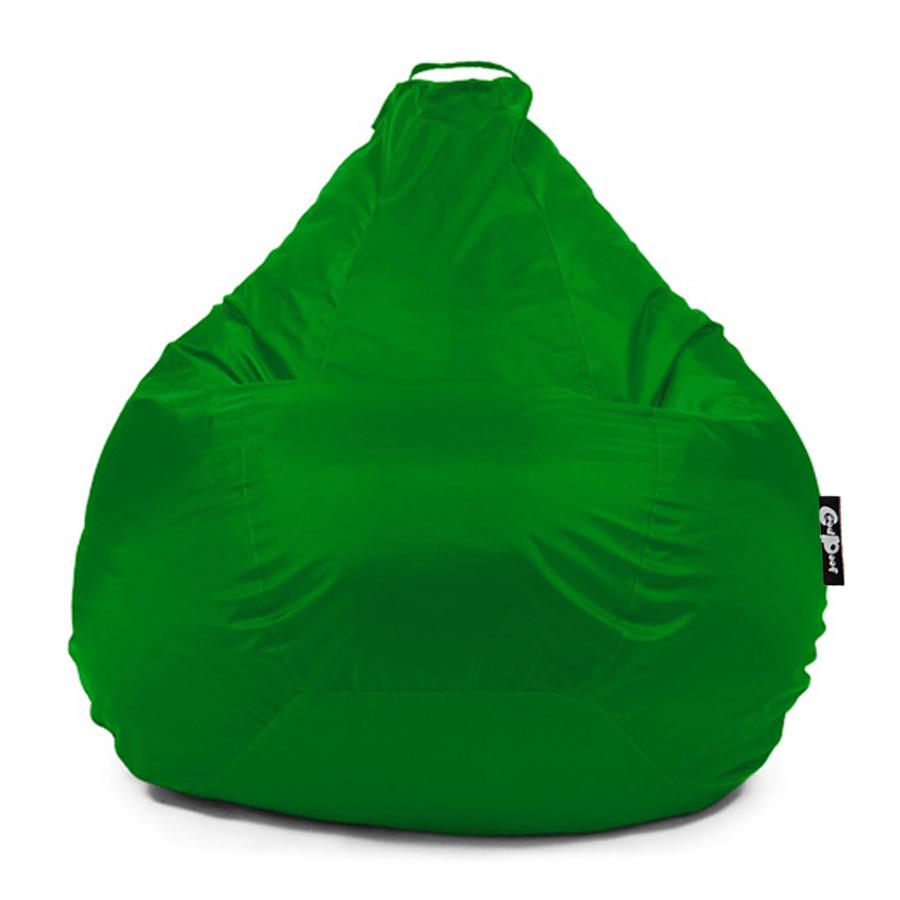 Кресло-мешок GoodPoof Груша Оксфорд, размер M, оксфорд, зеленый