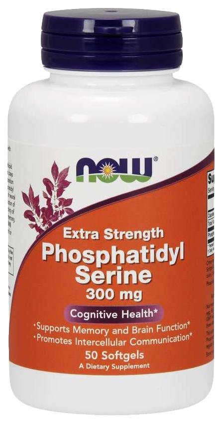 Купить Для нервной системы NOW Phosphatidyl Serine Extra Strength 300 мг 50 капсул