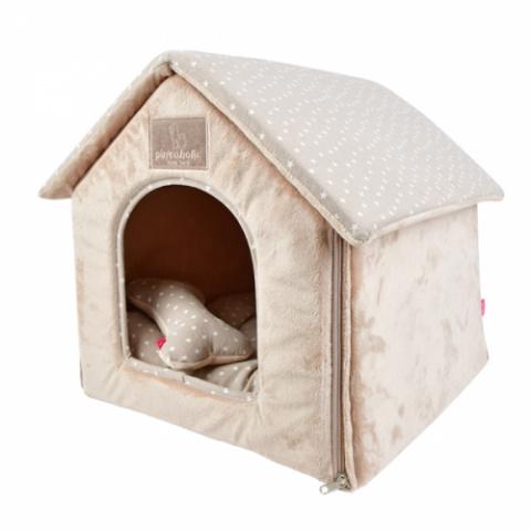 Домик с косточкой для животных бежевый Pinkaholic LUNA
