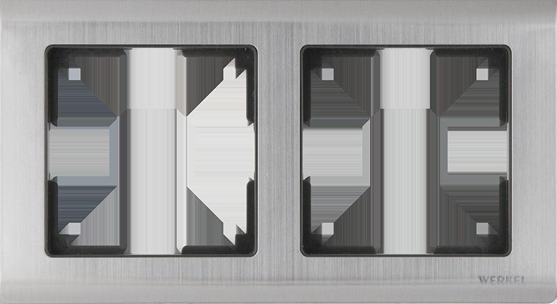 Рамка для выключателя Werkel WL02-Frame-02 a028860 глянцевый никель