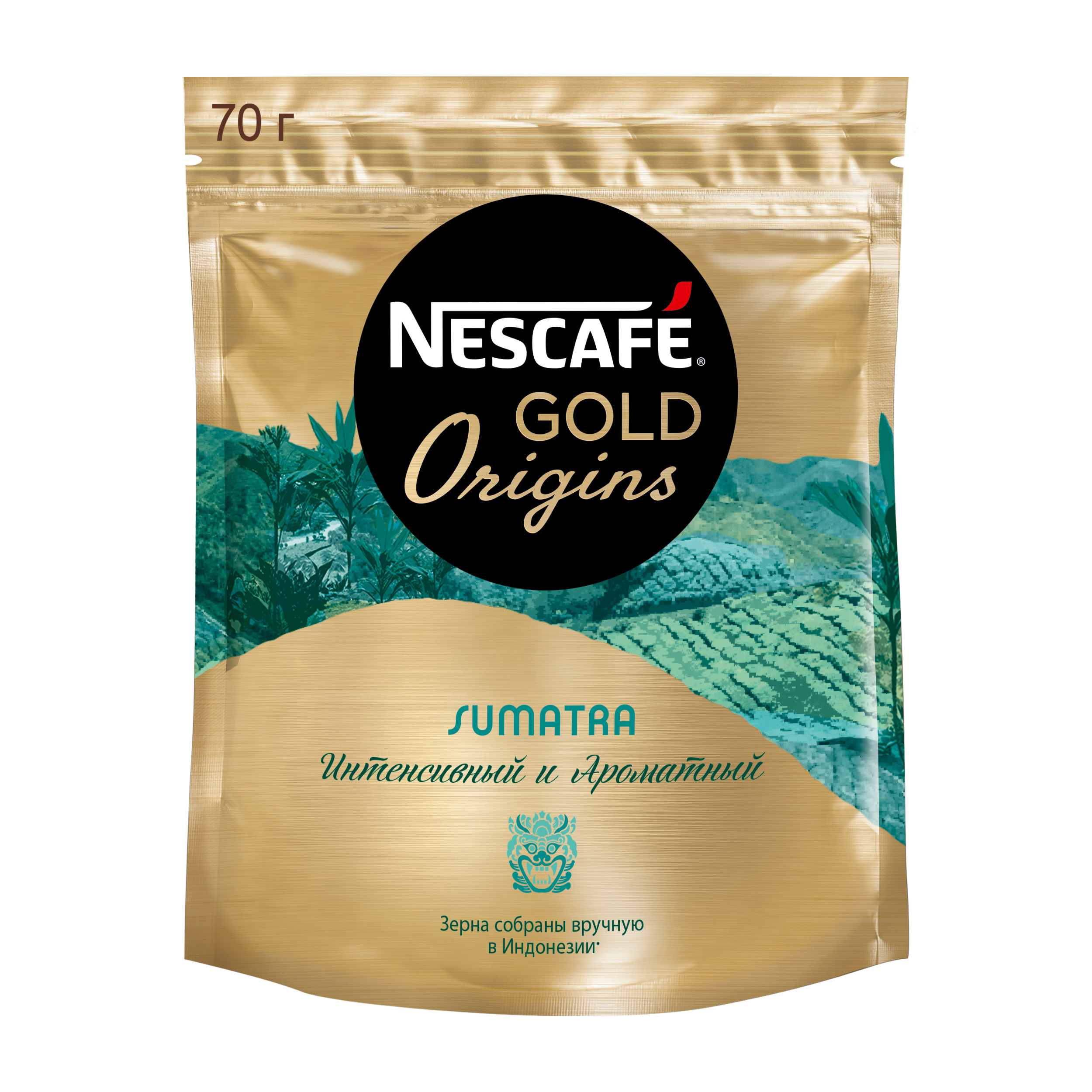 Кофе растворимый Nescafe gold origins Sumatra пакет 70 г