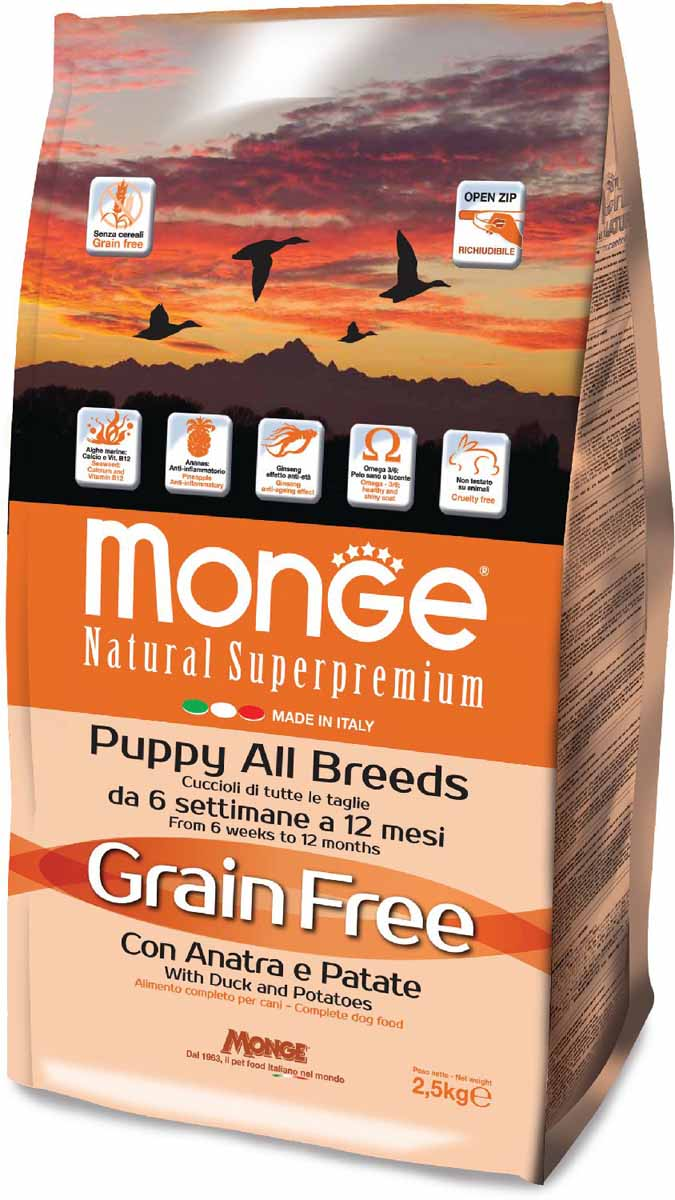 MONGE GRAIN FREE PUPPY ALL BREED