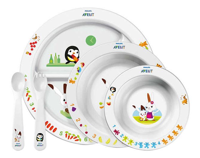 Купить Набор для кормления малышей Philips Avent SCF716/00, Наборы детской посуды
