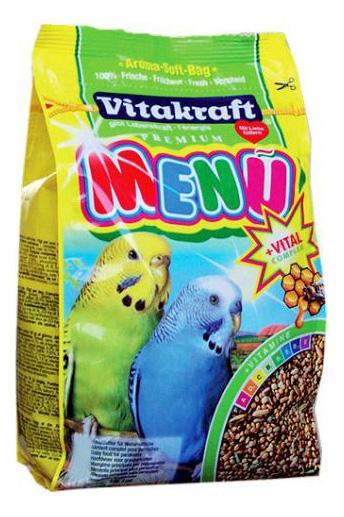 Основной корм Vitakraft для волнистых попугаев 500 г, 1 шт
