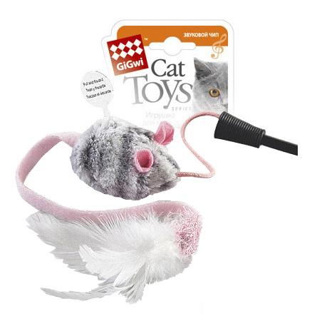 Дразнилка для кошек Gigwi, натуральные перья,