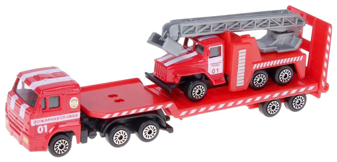 Купить Спецтехника Технопарк Автотранспортер КамАЗ с пожарной машиной, Строительная техника