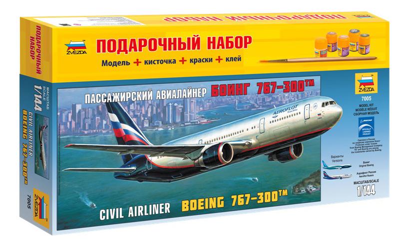 Купить Пассажирский авиалайнер боинг 767-300, Модель для сборки Zvezda Пассажирский авиалайнер боинг 767-300, Модели для сборки