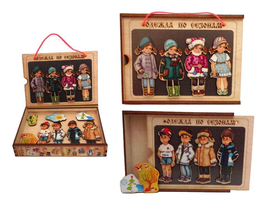 Деревянная игрушка для малышей Бэмби Одежда по сезонам
