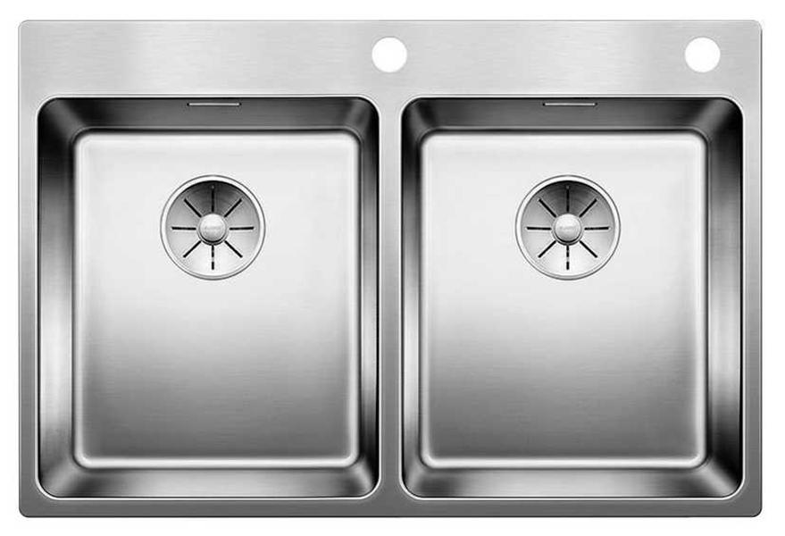 Мойка для кухни из нержавеющей стали Blanco Andano 340/340-IF-A 522997 сталь фото
