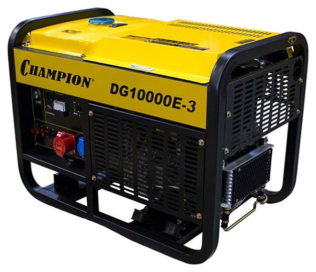 Дизельный генератор Champion DG10000E 3