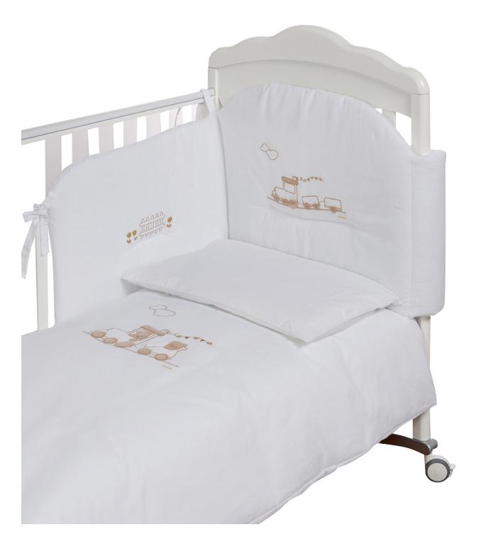 Комплект детского постельного белья Italbaby Trenino белый