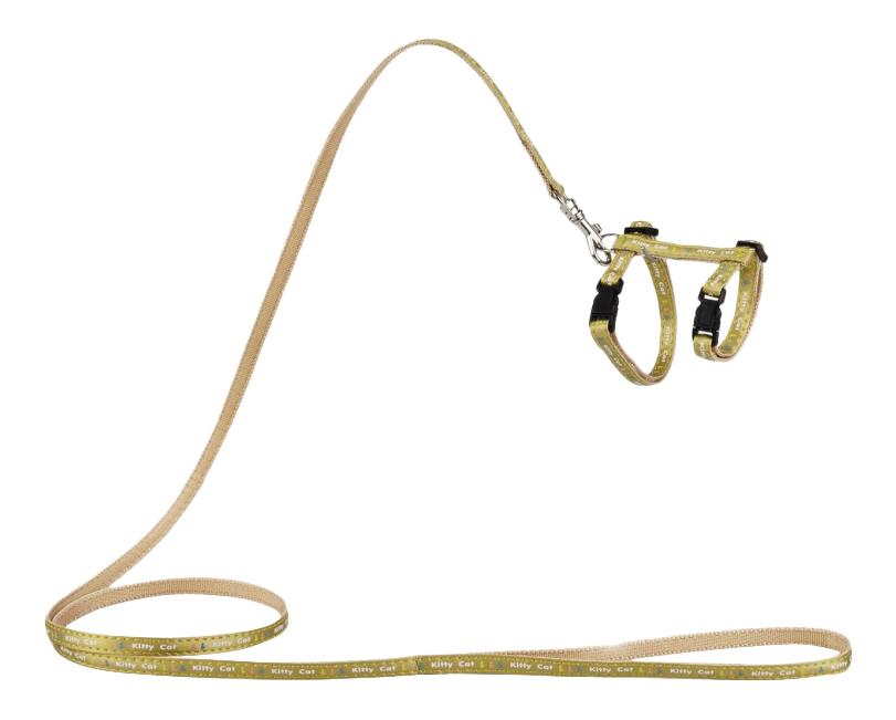 Beeztees Шлейка нейлоновая золотистая, 120см*10мм