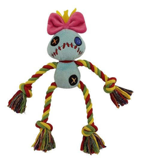 Мягкая игрушка для собак Triol Kukla с канатом, разноцветная, 15 см