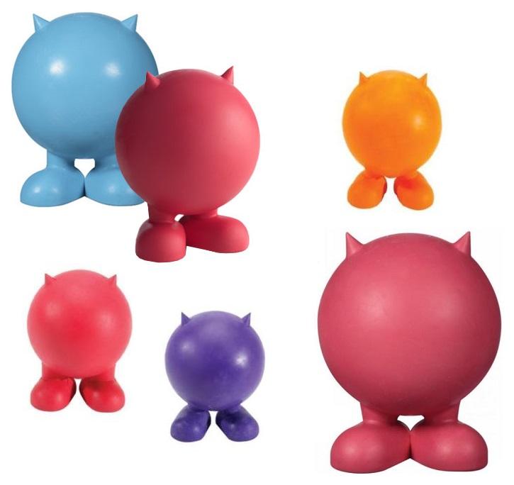 жевательная игрушка, Мяч для собак J.W. Pet Company, Каучук, JW43168, Мяч на ножках с рожками 10 см