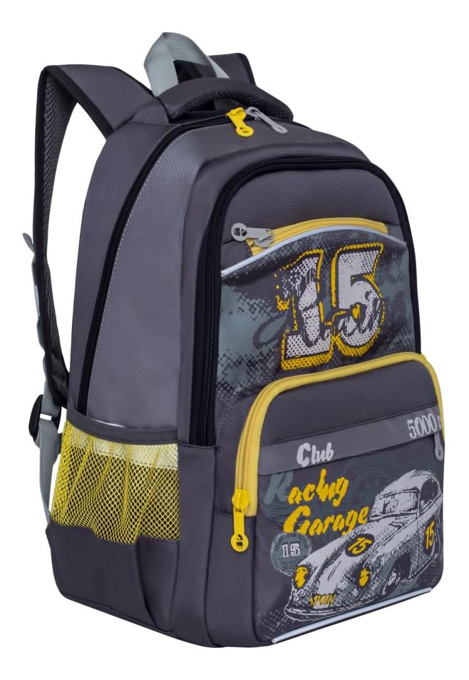 Купить Ранец RB-860-1/2 серый, Рюкзак для мальчика Grizzly RB-860-1 серый, Школьные рюкзаки и ранцы